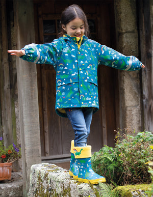 Frugi Puddle Buster Welly Boots Loch Blue Nessie AW20