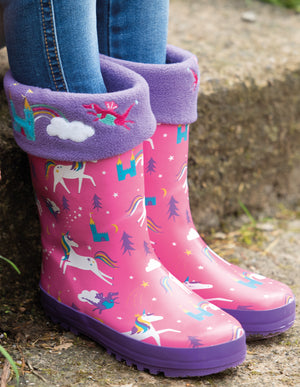 Frugi Puddle Buster Welly Boots Unicorn Puddles AW20