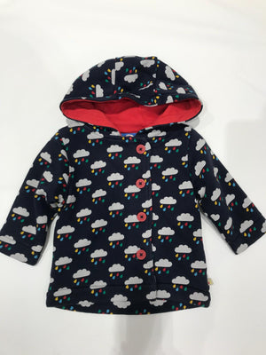 Frugi Cosy Button Up Jacket Rainclouds