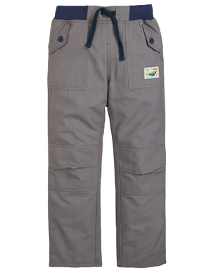 Frugi Adventure Roll Ups in Slate Grey AW19