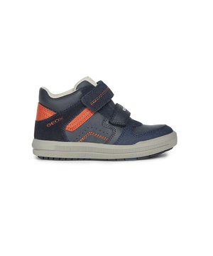 Geox Arzach Navy/Red Sneaker Boot J944AB