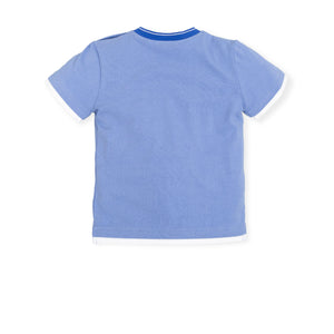 NEW Tutto Piccolo 6660S19 Electric Blue T-shirt And Boxer Set
