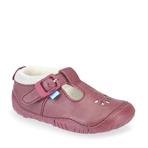 Start Rite Baby Bubble Wine Leather Pre-walker