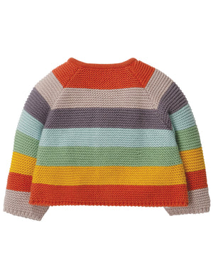 Frugi Cute as a Button Cardigan in Soft Rainbow AW19