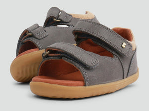 NEW Bobux Driftwood Open Sandal Charcoal