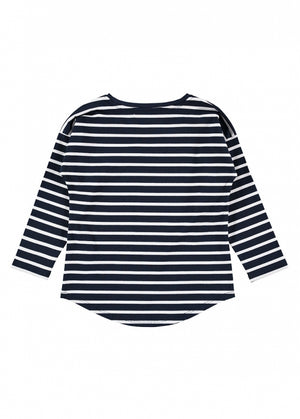 Angels Face Ellen Striped Top, Navy
