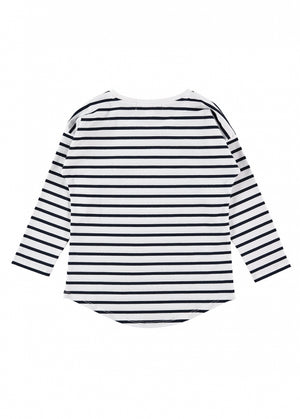Angels Face Ellen Striped Top, White