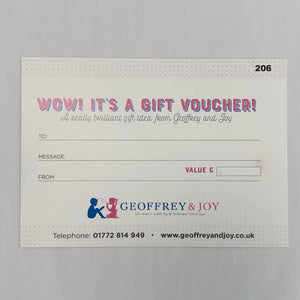 Geoffrey and Joy Gift Voucher