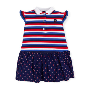NEW Tutto Piccolo 6244S19 B07 Navy Dress