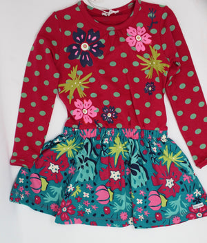 Happy Calegi Emerald Kids Dress Print