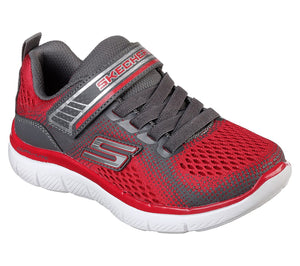 NEW Skechers Geo Blast Red/Charcoal