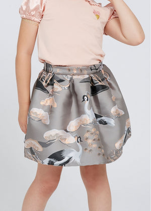 Angels Face Heron Skirt, Ash Grey