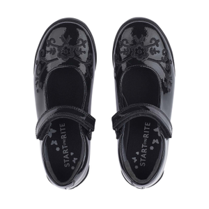 Start Rite Hopscotch Black Patent School Shoe