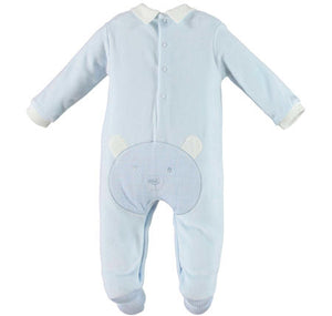 NEW I Do v201.00 Pale Blue Baby Romper With Feet