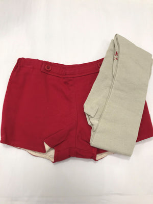 Tutto Piccolo Red Shorts And Tight Set