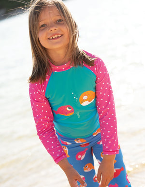 Frugi Sun Safe Set Pacific Aqua/Fish SS20
