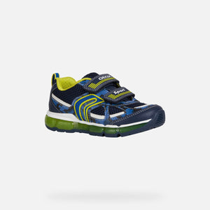 NEW Geox J Android Navy/Lime