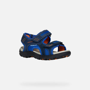 NEW Geox J Strada Navy/Orange