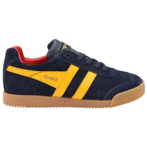 Gola Harrier Lace Up Kids  - Navy/sun/red