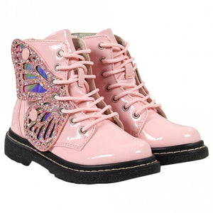 Lelli Kelly LK6540 Rosa Pink Fairy Wings Patent Ankle Boot