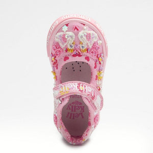 Lelli Kelly LK 1002 Swan Baby Dolly beaded Canvas Shoe SS20