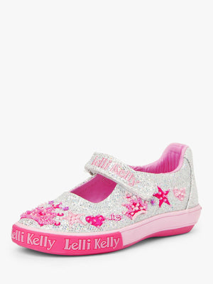 Lelli Kelly LK 1004 Silver Tiara Baby Dolly Beaded Canvas SS20