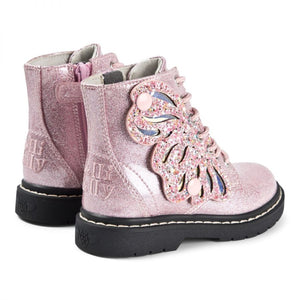 Lelli Kelly LK5544 Fairy Wings Boots  - Glitter Rosa