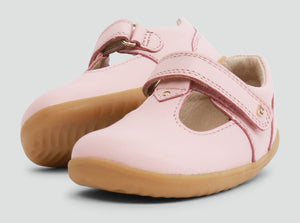 Bobux Louise T-Bar Seashell Pink