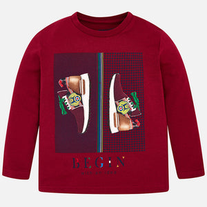 Mayoral 4016 024 Dark Red Long Sleeve T-Shirt