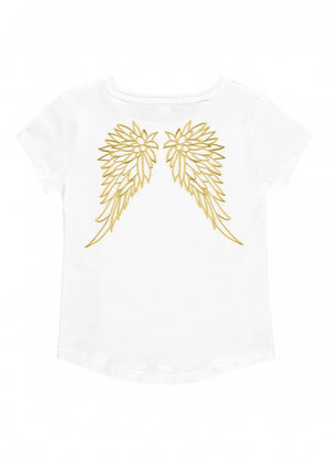 Angels Face Miracle Wings Tee, Snowdrop