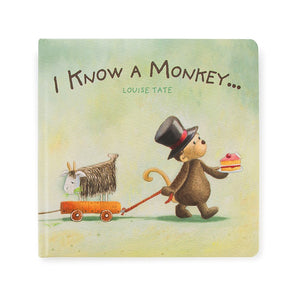 NEW JellyCat I Know A Monkey Book