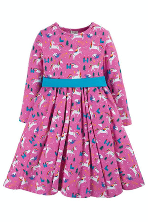 Frugi Party Skater Dress, Unicorns