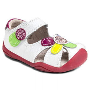 Pediped Daisy White Multi