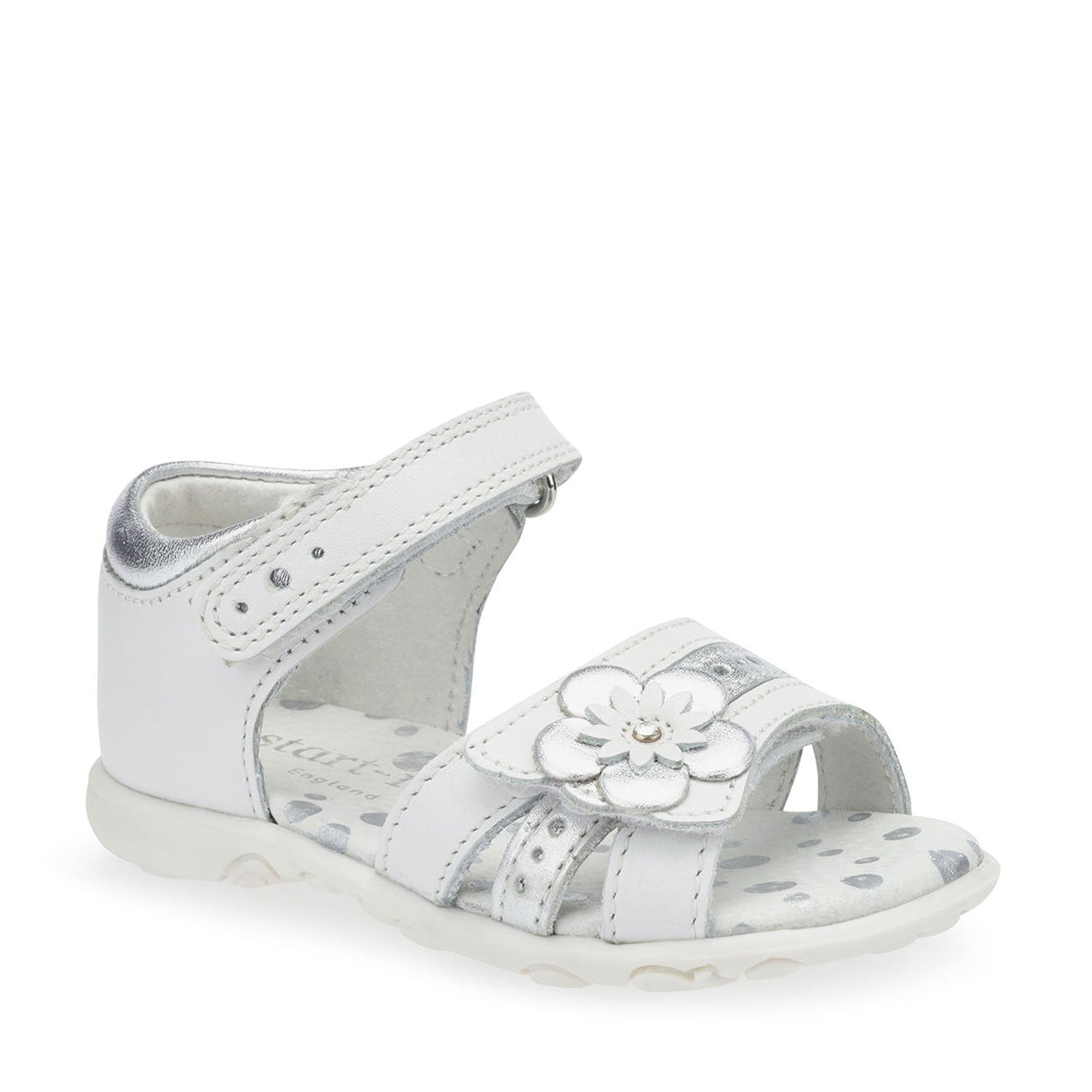 59c75118a40d9 NEW Start Rite Phoebe White/Silver Leather