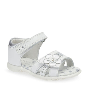 NEW Start Rite Phoebe White/Silver Leather