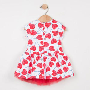 Catimini Heart Lollypop Dress with Tulle Underskirt