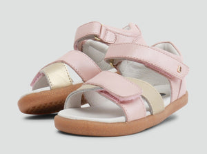 Bobux Sail Open Sandal Blush and Gold