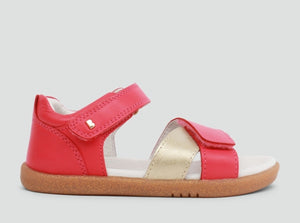 NEW Bobux Sail Open Sandal Watermelon and Gold