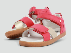Bobux Sail Open Sandal Watermelon and Gold