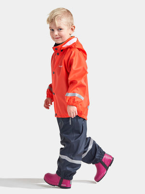 Didriksons Slaskeman Kids Set - Poppy Red/Navy