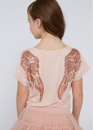NEW Angels Face Wendy SS Slouch Top, Blush