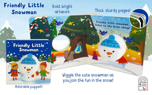 Friendly Little Snowman Puppet Book