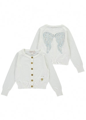 Angels Face Iridescent Wings Cardi White