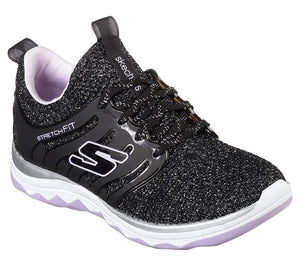 NEW Skechers Sparkle Sprints Black/Lavender