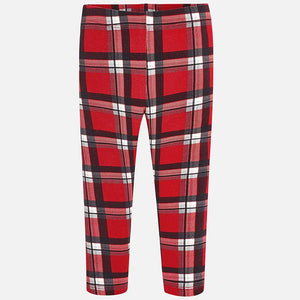 Mayoral Girls Red Check leggings 4708