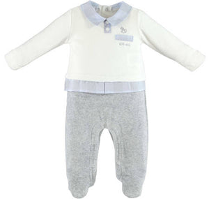 I Do V210 00 Grey And White Babygrow