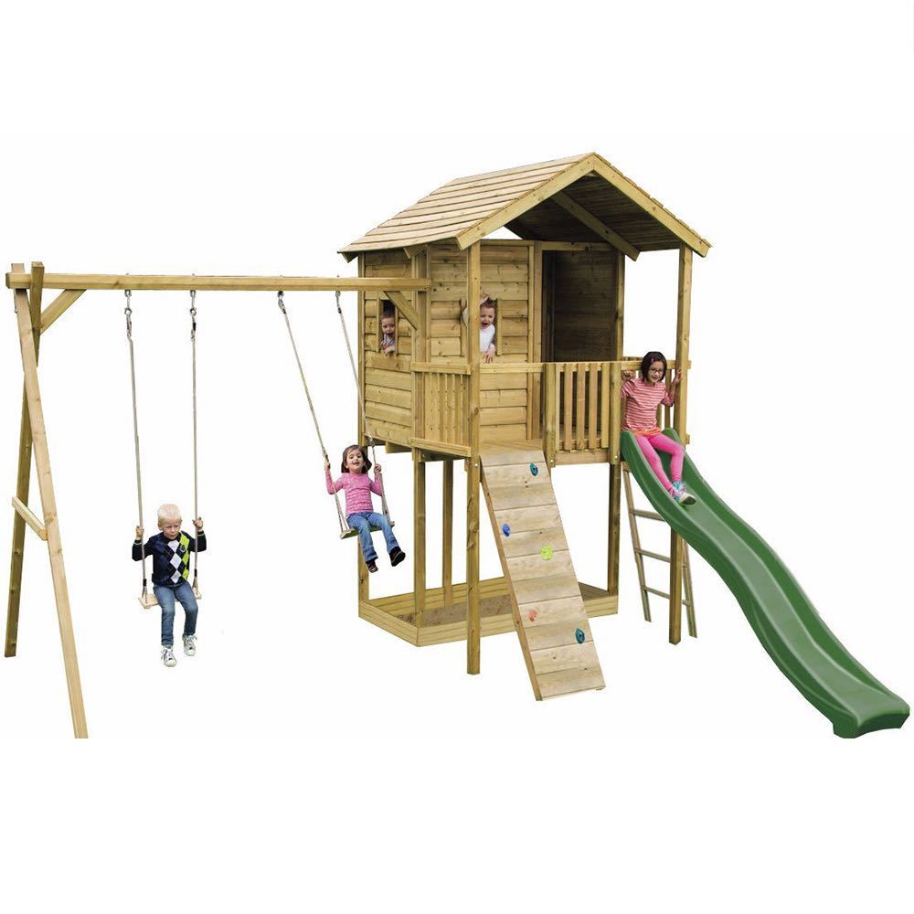 Action Gate Lodge Climbing Frame – Kiddiplay