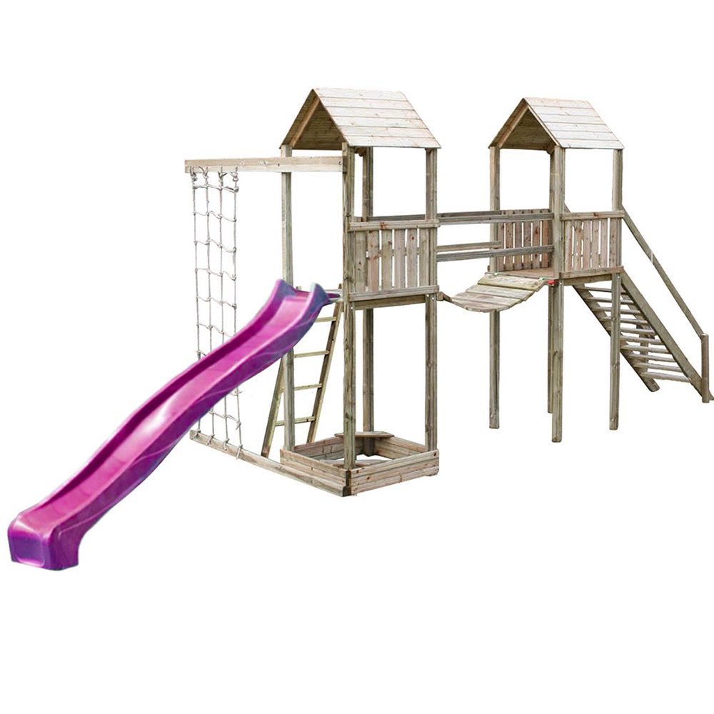 Action Arundel Twin Towers Climbing Frame + Optional Swing Arm ...