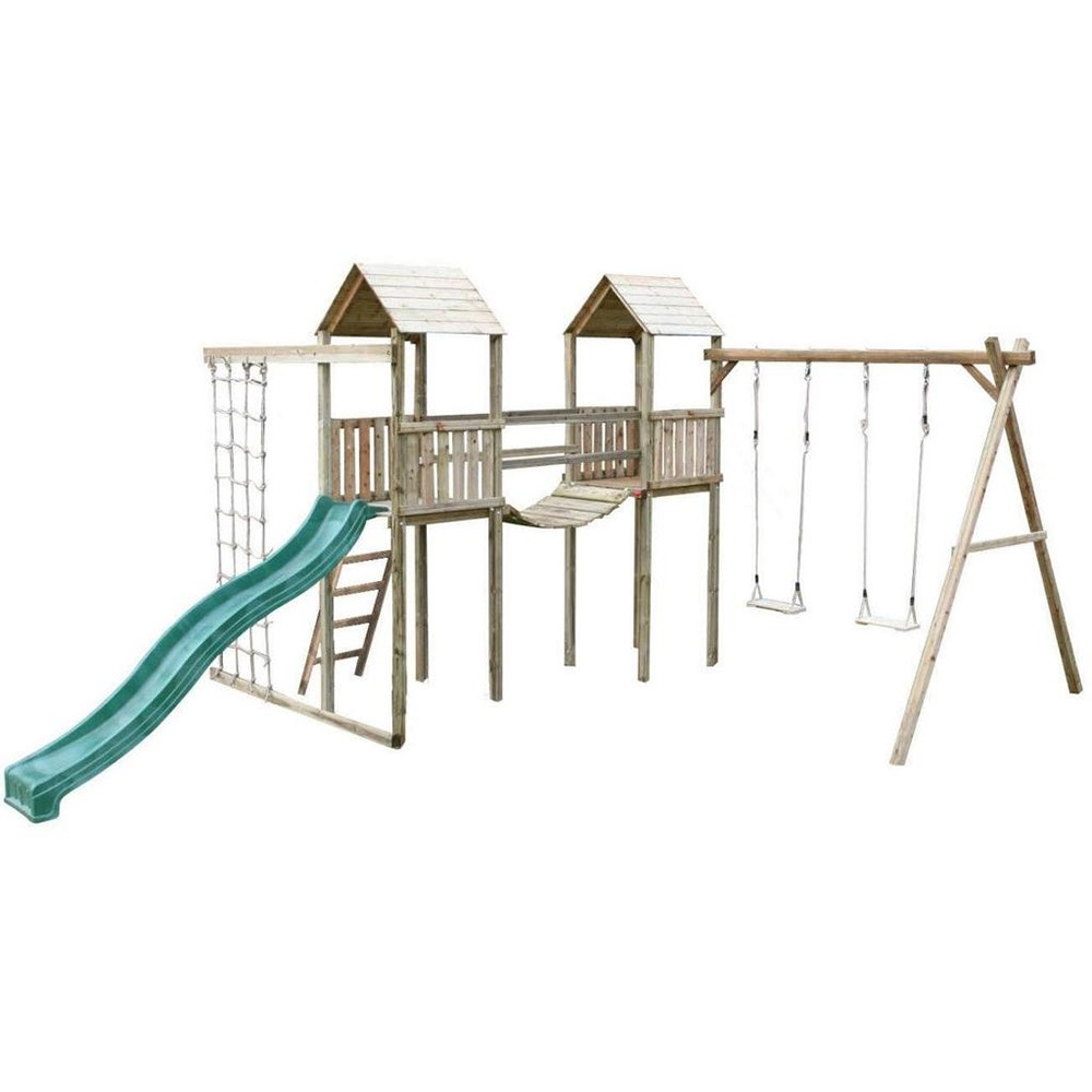Action Arundel Twin Towers Compact Climbing Frame – Kiddiplay