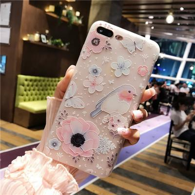 Embossed flower phone case cover For your iPhone X,XR,XSmax